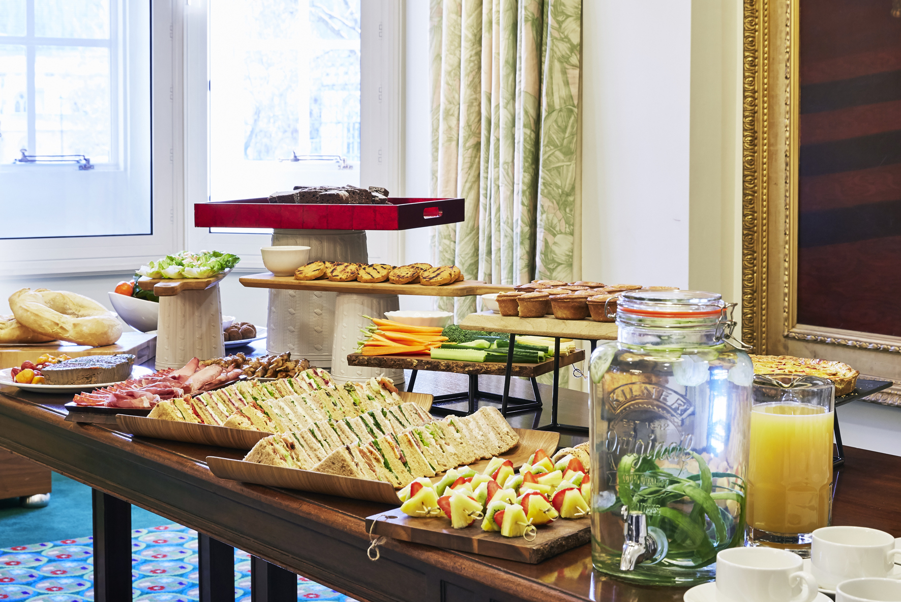 Buffet on table